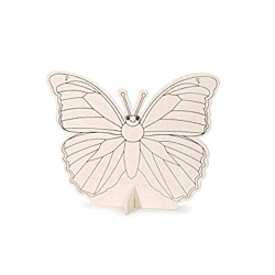 Darice Wood Kit with Markers Butterfly