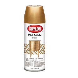 Krylon General Purpose Aerosol, 11-Ounce, Brass Metallic Finish Spray Paint
