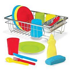 Melissa & Doug Let's Play House Wash and Dry Dish Set (24 pcs) 4282