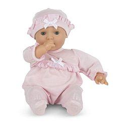 Mine to Love Jenna 12-Inch Soft Body Baby White Doll, LCI-4881