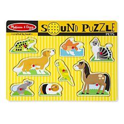 Pets Sound Wood Puzzle - 8 Pieces