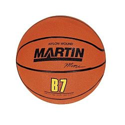 Martin Sports Orange Rubber Basketball, Mini 7