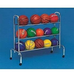 Portable Ball Rack 3-Tier Ball Rack (Holds up to 12 Athletic Balls)