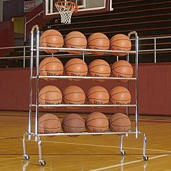 Portable Ball Rack 4 Tier Ball Rack (Holds up to 16 Athletic Balls)