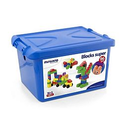 Miniland Super Blocks with Characters, 96-Pieces Set