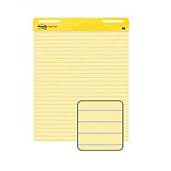 Post-it Easel Pad, 25 in x 30 in sheets, Yellow Paper with Lines, 30 Sheets/Pad, 2 Pads/Pack