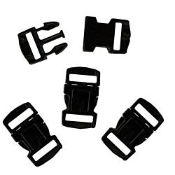 Paracord / Parachute Cord Black Plastic Buckles 15mm / 0.6 Inches (30 Sets)