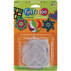 Perler Fun Fusion Bead Clear Pegboards Circle, Star, Heart, Hexagon, Square 2800