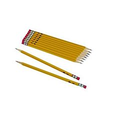 Oriole #2 Soft Pencils, Pre-Sharpened, Wood-Cased, Black Core, 12/pack , Yellow (12886)