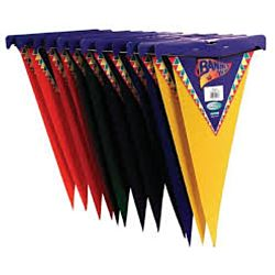 Felt Pennants, 9 x 22 Inches, Assorted Colors, 12 Pieces