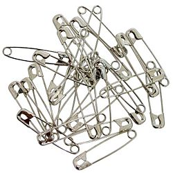 Silver Safety Pins Pack of 144, 2 inch