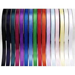 1/4 inch Double Faced Satin Poly Ribbon - White - 30 yards