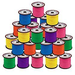 Plastic Lacing Spool Value Pack - Neon Colors 50/case