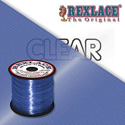 Pepperell Rexlace Plastic Craft 100 Yard Spool, 3/32-Inch Wide, Clear Blue