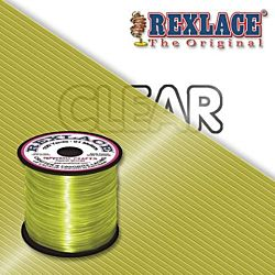 Pepperell Rexlace Plastic Craft 100 Yard Spool, 3/32-Inch Wide, Clear Yellow