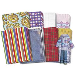 Fabulous Fabric Craft Paper, Roylco, R15243