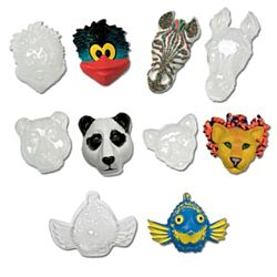 Animal Face Forms (set of 5) Roylco R52007