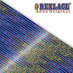Pepperell Rexlace Britelace & Tie Dye Plastic Lacing Spool , Blue