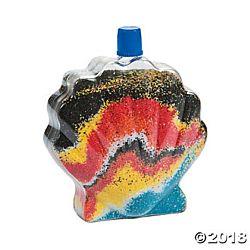 Sea Shell Sand Art Bottles - 12 per package