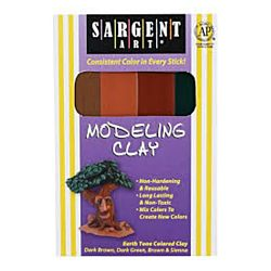 Sargent Art® Modeling Clay - 1 lb. Earth Tone Colors SAR224009