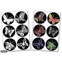 Jewish Color & Rub Stickers Butterflies