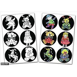 Jewish Color & Rub Stickers Dolls