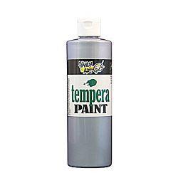 Handy Art 231-166 Tempera Paint, Metallic Silver, 16-Ounce
