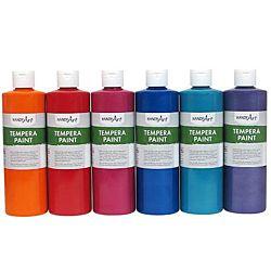 Handy Art 231-045 Tempera Paint, Sparkle Green, 16-Ounce