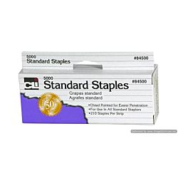 Staples, Standard, Chisel Pointed 26/6, Carbon Steel, 5000/Box (84500)