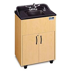 Children and Adults classroom Sink,  Black, Cherry, Mahogany or Maple Cabinet With Stainless Steel Single Basin and White Counter top
