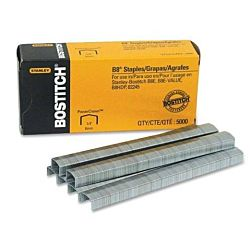 Bostitch B8 PowerCrown Premium Staples, 0.25 Inch Leg, Full-Strip (STCR21151/4)