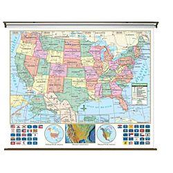 Classroom U.S. Primary Wall Map 64