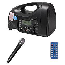 Classroom PA System, 65 Watt, Portable, USB, SD , FM , MP3 W/ Hand Held Mic