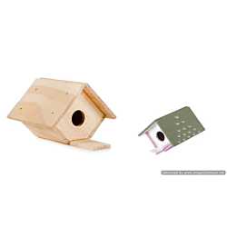 Darice Wood Model Kit - Birdhouse - 6 x 3-1/2 inches (9169-05)