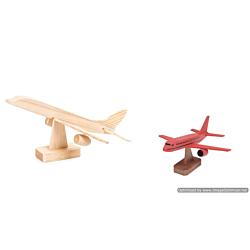 Darice Wood Model Kit - Jumbo Jet - 7 x 4 inches (9178-94)