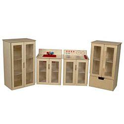 Wood Designs Children Kitchen Play Cottage Appliance Set of Four WD-10085