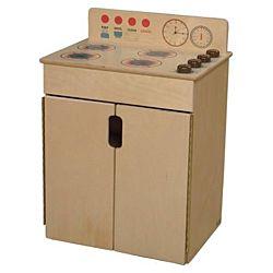 Wood Designs Children Kitchen Play Range w/Brown Knobs WD-10180BN