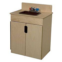 Wood Designs Children Kitchen Play Sink w/Brown Tray WD-10280BN