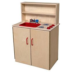 Wood Designs Children Play 3-N-1 Kitchen Center WD-10600