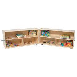 Wood Designs Children Folding Versatile Wood Storage Unit Natural Color, 23.5
