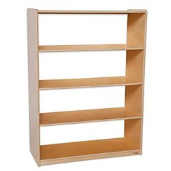 Wood Designs Children Bookshelf with Acrylic Back, Natural wood ,  49