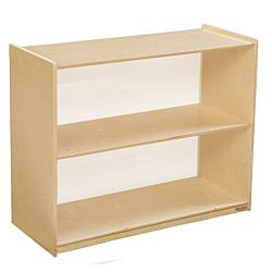 Wood Designs Children Bookshelf with Acrylic Back, Natural wood ,  29-1/16