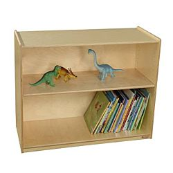 Wood Designs Childrens Bookshelf with Adjustable Shelves, Natural wood , 29-1/16