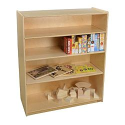 Wood Designs Childrens Bookshelf with Adjustable Shelves, Natural wood , 42-7/16