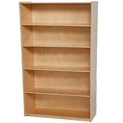 Wood Designs Childrens Bookshelf, Natural wood , 59-1/2