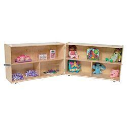 Wood Designs Children Folding Versatile Wood Storage Unit Natural Color, 30