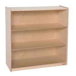 Wood Designs Children Deep Bookshelf , Natural wood , 36.75
