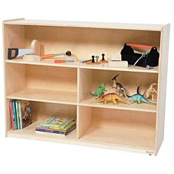 Wood Designs Children Versatile wood Storage Unit Natural Color, 38