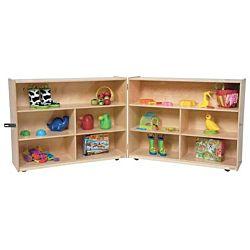 Wood Designs Children Folding Versatile Wood Storage Unit Natural Color, 38