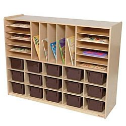 Wood Designs Kids, Multi-Storage with (15) Brown Trays WD-14002